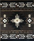 Southwest Native American Area Rug Chocolate Brown Design C318 (5 Feet 11 Inch X 8 Feet 6 Inch )