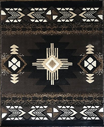 Southwest Native American Area Rug Chocolate Brown Design C318 (5 Feet 11 Inch X 8 Feet 6 Inch ) by Concord