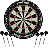 Viper Shot King Sisal/Bristle Steel Tip Dartboard with Staple-Free Bullseye...