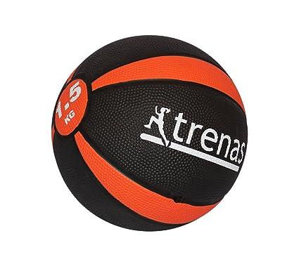trenas Balón Medicinal de Goma Pro - 1,5 kg: Amazon.es: Deportes y ...