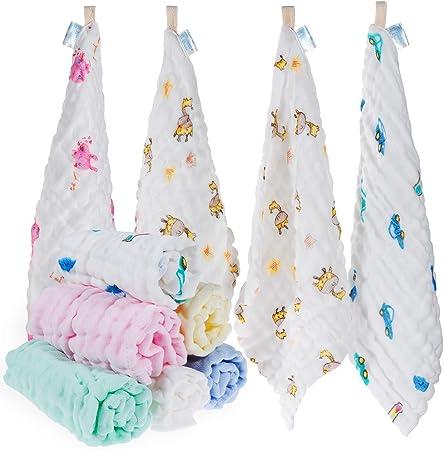 Toalla para el lavado del bebé - 100% algodón:Productos naturales para bebés orgánicos y completos.