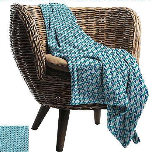 (EwaskyOnline Ikat Baby Blanket Nautical Inspired Color Palette Rhombus Arrow Shapes Africa Middle East Culture Recliner Throw,Couch Throw, Couch wrap 51