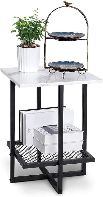 tavolino tavolino 2 Strati tavolino tavolino Regolabile in Altezza 50 x 30 x 60-80 cm Ejoyous Tavolino tavolino tavolino tavolino Comodino Comodino tavolino Laptop