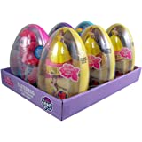 My Little Pony and Disney Princess Belle Jumbo Figurine and Candy Filled Easter Eggs, Pack of 6