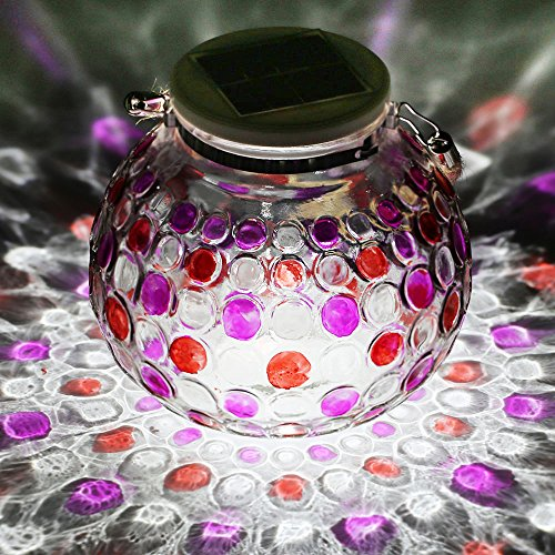 Solar Globe Glass Ball Table Lamps Waterproof Color Changing LED Night Lights Decorative Lighting for Christmas Home Party Patio Garden Outdoor Indoor