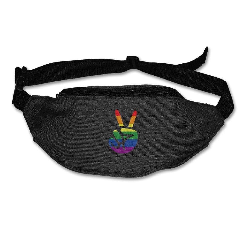 Yahui LGBT Made A V Victory Sign Waist Bag Fanny Pack//Hip Pack Bum