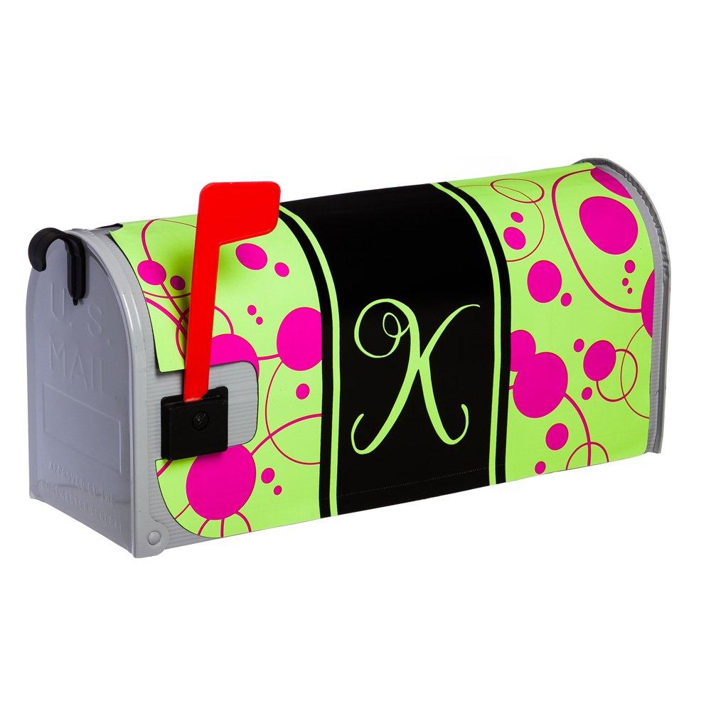 Evergreen Peppy Pink Monogram Glow in The Dark Mailbox Cover K