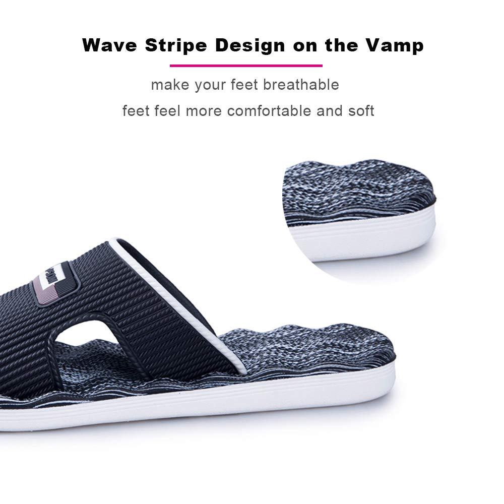 Wave Sole Breathable Slippers No Slip Comfortable for Shower//Beach//Indoor Outdoor SOVH Womens and Mens Bathroom Sandals