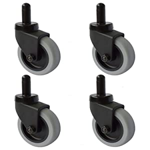 """AAGUT 3"""" Rubbermaid Mop Bucket Casters-Non-Marking TPR Wheels Good Replace Wheels for Mop Bucket-Thermoplastic Rubber-Set of 4 MopBucketCaster7515"""