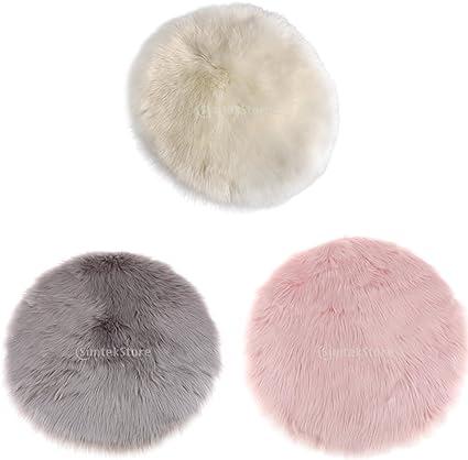 Véritable Top Demi-Peau de mouton Tapis Siège Pad Dans Gris Foncé Plush Pet Pad