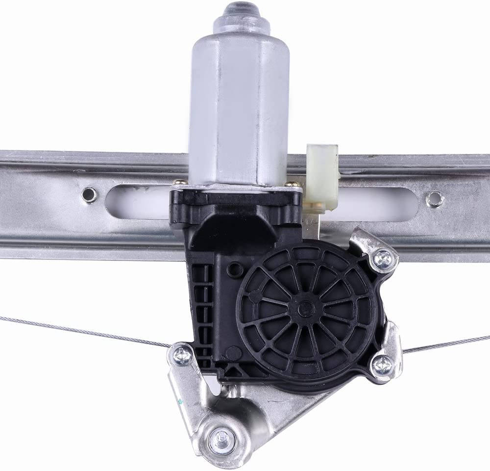 LUJUNTEC 741-481 Rear Right Passenger Side Replacement Power Window Regulator with Motor Assembly fit for 2001-2005 BMW 325i 325xi 330i 2000 BMW 323i 328i 1999 BMW 323i 328i 51358212100