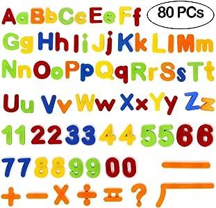 Tacobear Letras magnéticas y números para educar a los