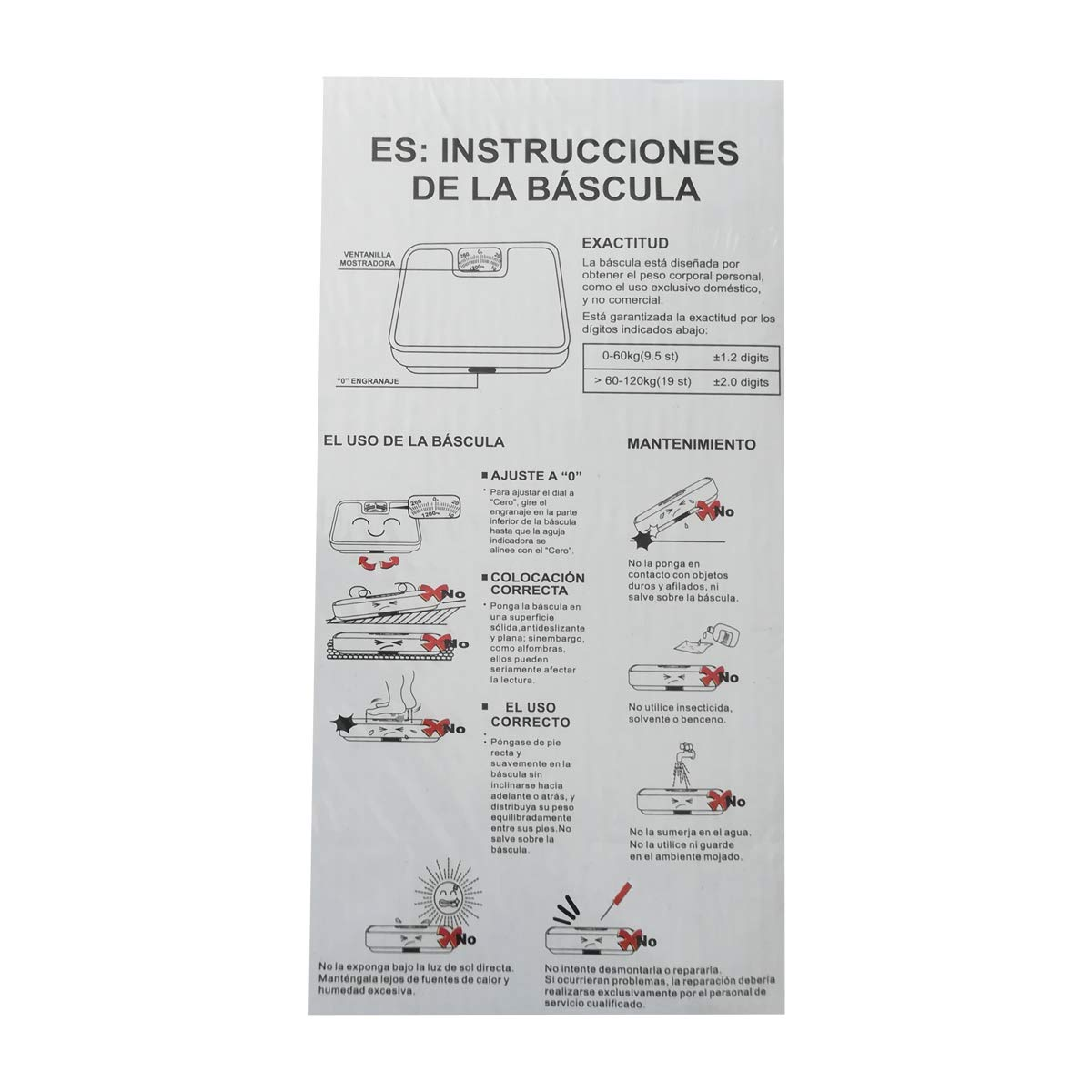 Cisne 2013, S.L. Bascula de baño mecanica Corporal Antideslizante. Tamaño 26,5x26,5x5cm. Color Blanco: Amazon.es: Hogar