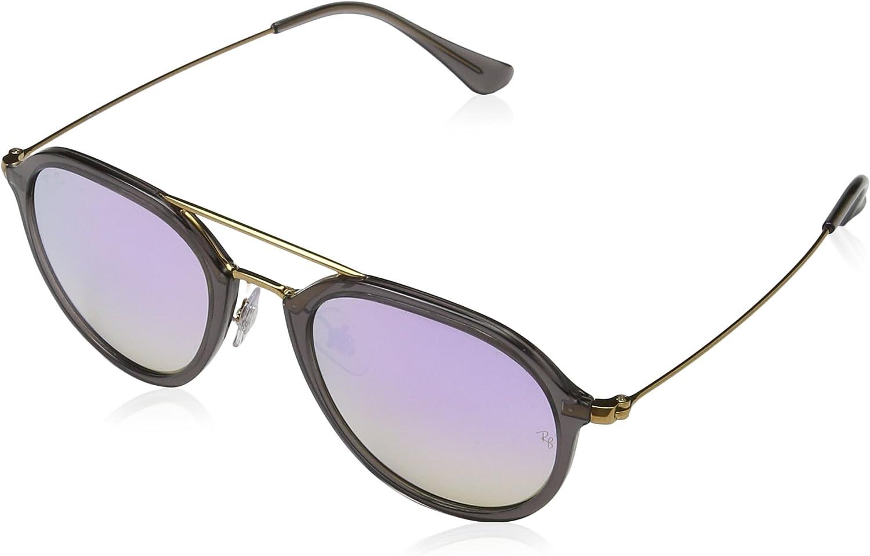 RAY-BAN Rb4253 Gafas de Sol, Gris/Bronce-Cobre/Lila Degradada (Shiny Grey), 50 Unisex-Adulto