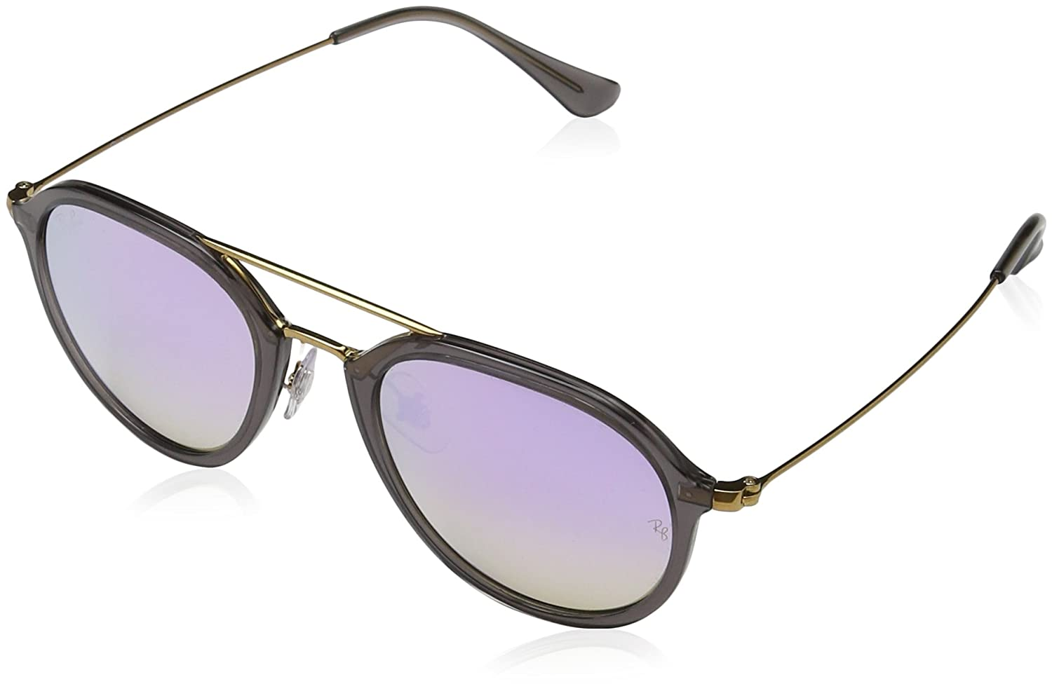 RAY-BAN Rb4253 Gafas de sol, Gris/Bronce-Cobre/Lila Degradada (Shiny Grey), 50 Unisex-Adulto