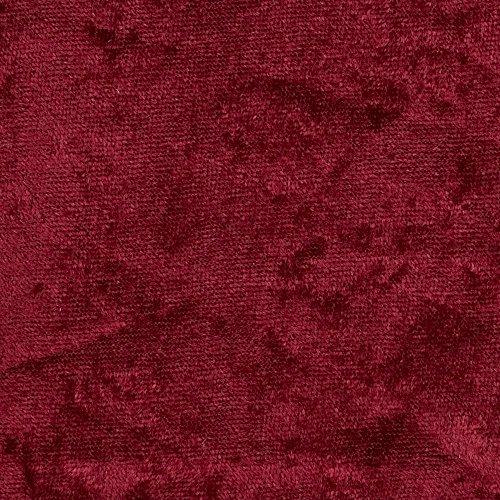 Burgundy Cotton Fabric (5 Yard Bolt Burgundy Crush Panne Velour Fabric)
