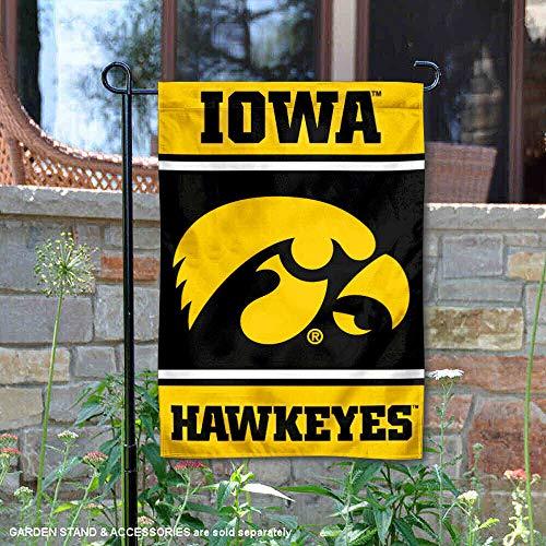 College Flags and Banners Co. Iowa Hawkeyes Garden Flag - Iowa Hawkeyes Team Wall Border