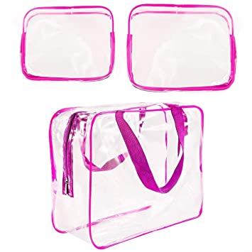 Amazon.com: CN-Culture - Bolsa de cosméticos transparente ...