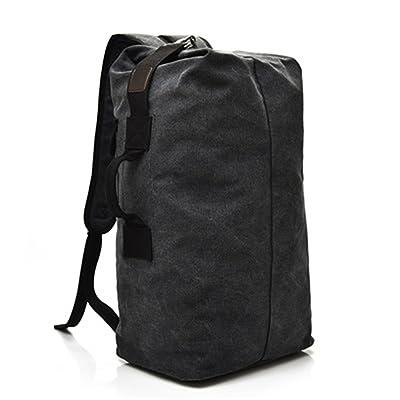 Zachaomero Large Capacity Travel Bag Mountaineering Backpack Men Canvas Bucket Shoulder Bag