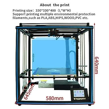 Impresora 3D TRONXY X5SA con estructura cuadrada, gran rango de impresión 330 x 330 x 400 mm: Amazon.es: Industria, empresas y ciencia