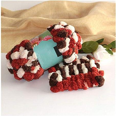Diy hilo de bufanda de algodón suave natural hilo grueso para tejer crochet bebé tejido de hilo de lana 14: Amazon.es: Hogar