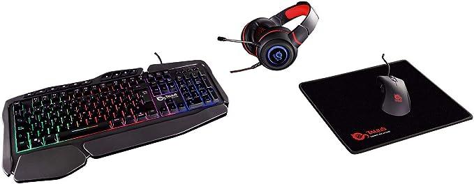 Talius Gaming Kit V.2 (Teclado + Raton + Auriculares + Alfombrilla) Black: Amazon.es: Informática