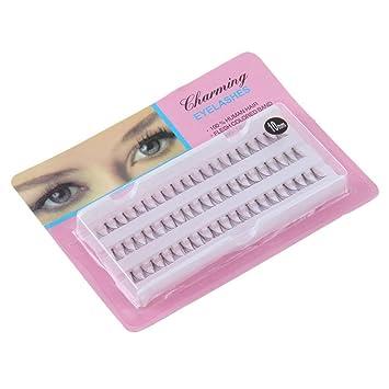200ba0f8676 Amazon.com : NewKelly Individual False Fake 60 Stand Eyelashes Premium  Corner Flare Cluster Lashes : Beauty