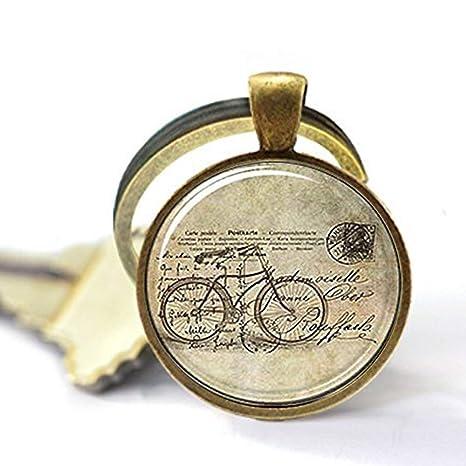 Llavero de bicicleta estilo vintage Hipster, llavero de ...