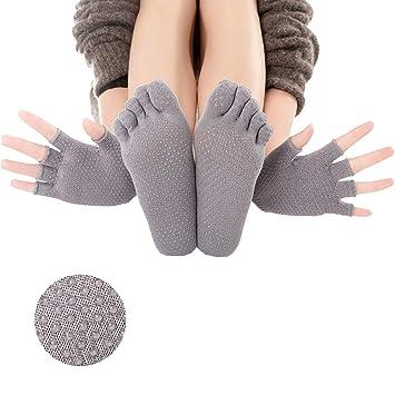 HappyTime Yoga Calcetines de Las Mujeres Conjunto de Guantes ...