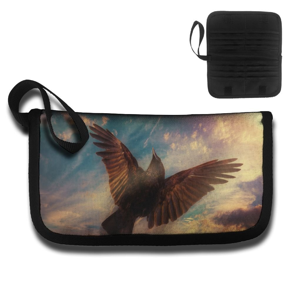 Gili Crows Love The Sky Travel Passport & Document Organizer Zipper Case
