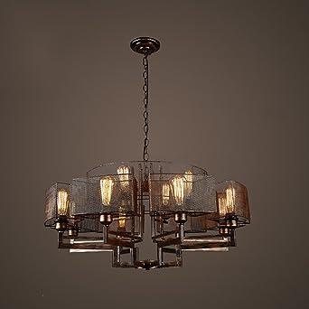 XUEPING Amerikanischen Pavillon Decke Industriellen Stil Kronleuchter  Wohnzimmer Esszimmer Dekoration Retro Retro Kreative 8 Lichter Bartisch