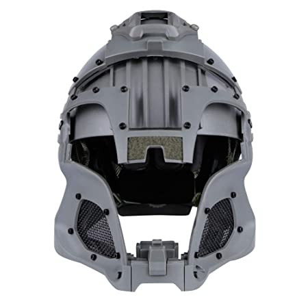Casco táctico Cara Completa Malla Gafas Gafas de Aire Paintball Máscara CS Actividades al Aire Libre Protección Militar Película Casco rápido: Amazon.es: ...