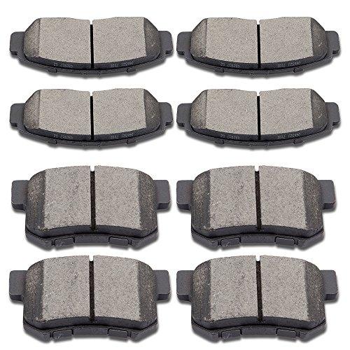SCITOO Ceramic Disc Brake Pads Set fit 01-03 Acura CL 99-04 Acura RL 99-08 Acura TL