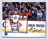 Dominik Hasek Buffalo Sabres Autographed Scoreboard Watching 8x10 Photo