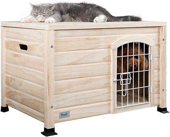 Casetas para perros Caseta para Mascotas Caseta para Gatos Jaula para Perros De Interior De Madera Maciza Jardín Al Aire Libre Jaula para Gatos Carga 10 Kg Ca: Amazon.es: Hogar