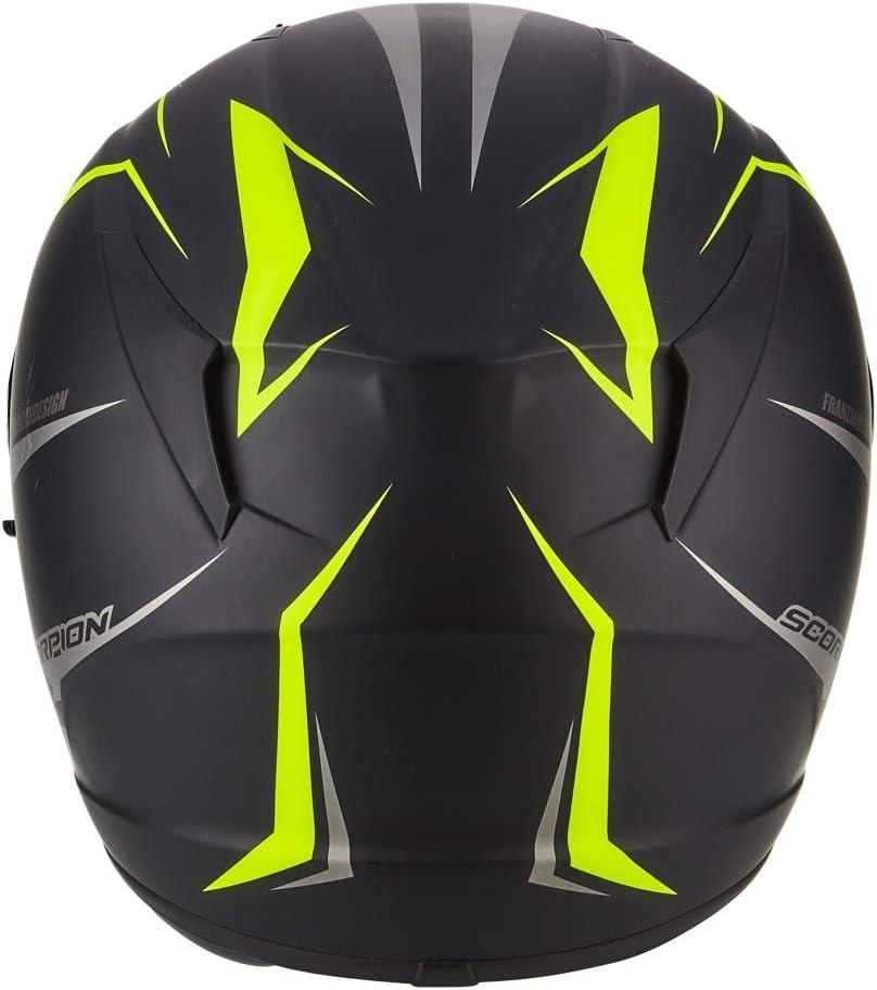 Scorpion EXO 390 HAWK Matt Motorcycle Helmet Size XS Black//Yellow