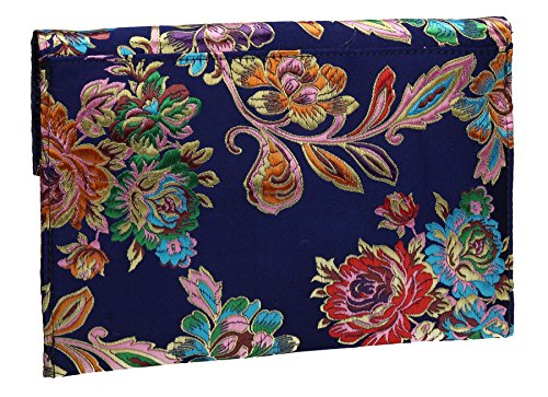 Blue Navy Prom Slim SWANKYSWANS Clutch Party Wedding Oriental Design Bag Cedar 7qxSAS