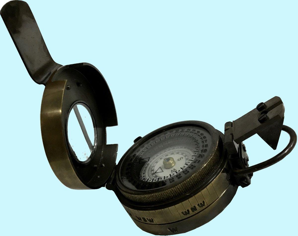 骨董品世界アンティークパールLook Heavy品質ソリッド真鍮ミニチュアポケットNavigational Militaryコンパスawusasc 060 B072XNKJLH