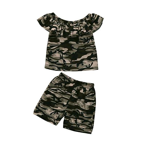 Absolute Ropa niños ❤ Conjunto de Niños, Niño Pequeño Niños Bebés Camuflaje Camiseta Tops + Shorts Outfits Clothes SetAbsolute: Amazon.es: Ropa y ...
