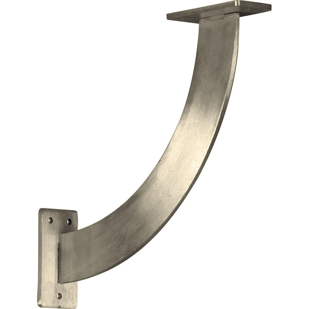 Ekena Millwork BKTM02X11X11BRSS-CASE-2 2 inch W x 11 inch D x 11 inch H Bradford Bracket, Stainless Steel (2-Pack),