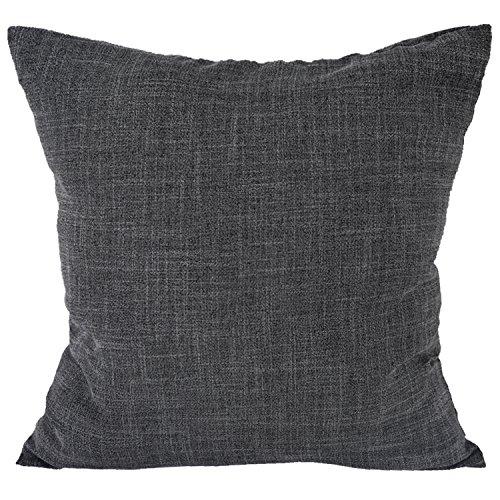 Deconovo Faux Linen Woven Fine Throw Cushion Case Pillow Cov