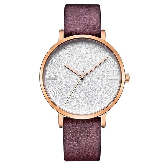 Reloj de cuarzo de mujer de tendencia de moda cinturón de cuero ultra delgado impermeable