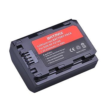 Amazon.com: Batmax 1 Pack 2280 mAh np-fz100 recargable ...