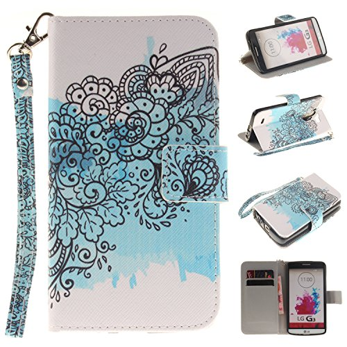 Cover Sunroyal®3 in 1Wallet para LG G3 Funda de PU Leather Cuero Suave Carcasa,Libro Ultra Slim Delgado Flip PU Cuero Cover Case con Interiores Slip Cierre Magnético Stand Función para Tarjetas para L Size10