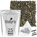Tealyra - Tie Guan Yin Oolong - 25 Tea Bags - Iron Goddess of Mercy Loose Leaf - Organically Grown - Pyramids Style Sachets