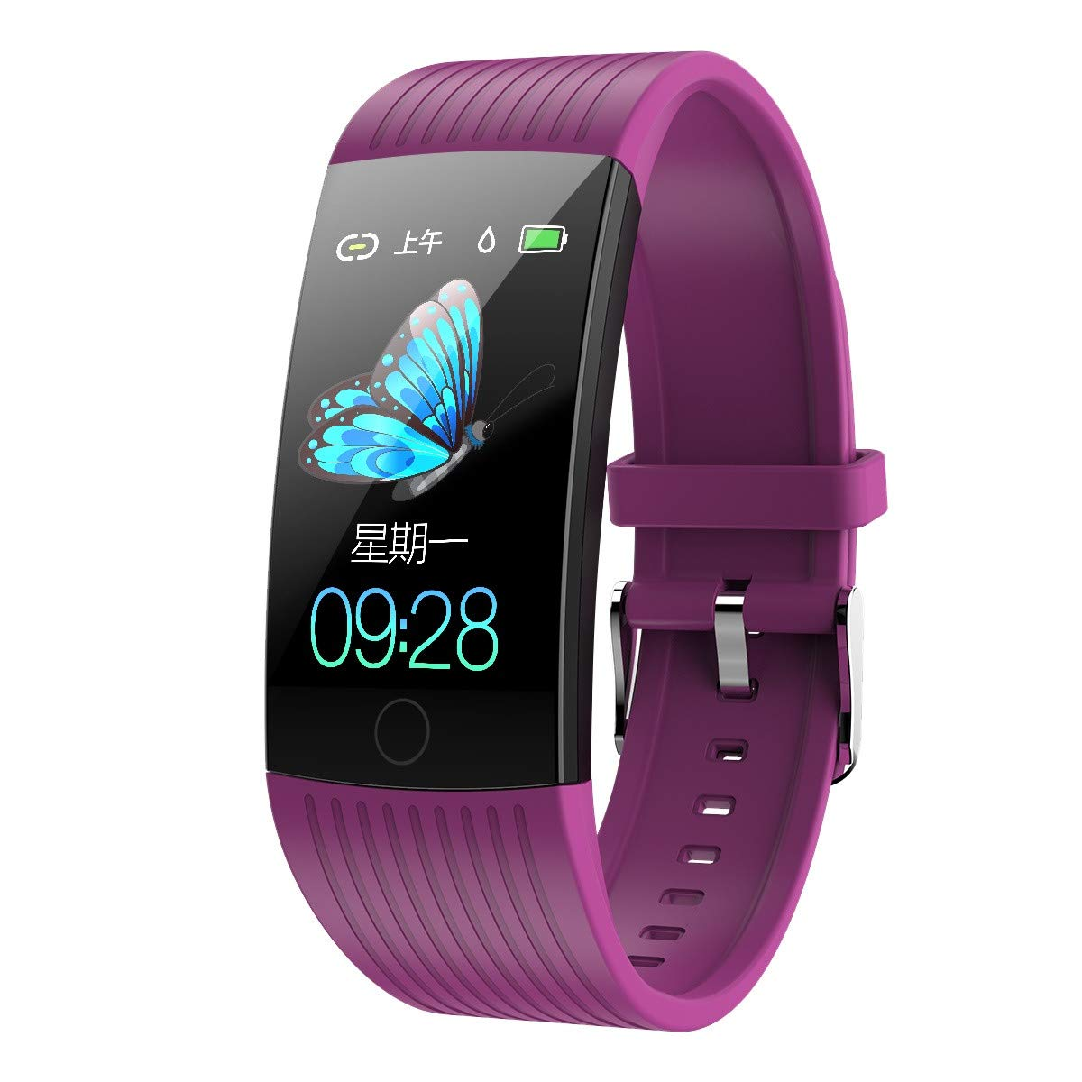 Opef Q18 Fitness Tracker HR, Activity Tracker Watch with Heart Rate Monitor, Water Resistant Smart Bracelet with Calorie Counter Pedometer Watch for Android and iOS Y6 Pro (Purple) by Opef