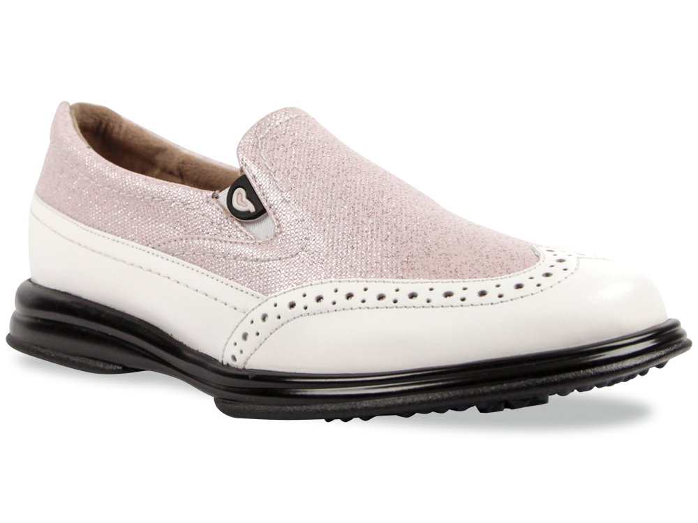 Sandbaggers Vanessa Women's Golf Shoe (Pink Shimmer, 7 1/2)