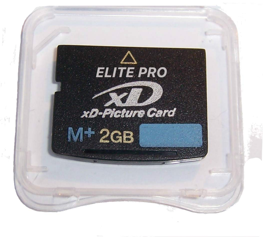 2pcs 2GB XD Memory Card Type M+, 2 GB XD Picture Card, XD Memory Card, 2gb XD Card for FujiFilm & Olympus Cameras Utilizing XD-Picture Cards, M+ XD Camera Card w/ Memory4You (tm) Microfiber Cloth by ELITE XD