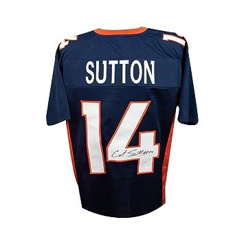 c462b882fff Courtland Sutton Autographed Denver Broncos Custom Navy Football Jersey -  JSA