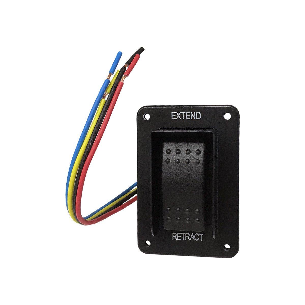 Lippert Components 387874 Power Stabilizer Jack Switch, Black